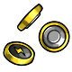 Yellow Button Battery