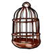 Brown Birdcage