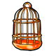 Orange Birdcage