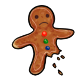 Injured Gingerbread Man