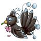 Black Flower Osafo Plushie