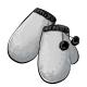 Black Puff Mittens