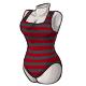 Black Stripe Swimsuit