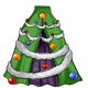 Black Christmas Tree Overskirt