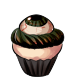 Black Eye Cupcake