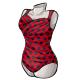 Black Polkadot Criss Cross Swimsuit