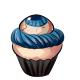 Blue Eye Cupcake