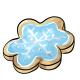 Blue Snowflake Cookie