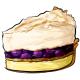 Slice of Blueberry Lemon Cream Pie