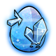 Blue Crystal Glowing Egg