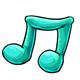Blue Gummy Music Note