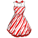 Candycane Pin Up Dress