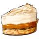 Slice of Caramel Apple Cream Pie