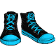 Blue Flat Sneakers