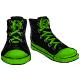 Green Flat Sneakers