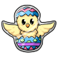 Chickle Easter Stamp