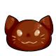Chocolate Kitty Head
