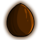 Dark Chocolate Glowing Egg