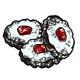 Dark Linzer Cookies