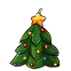 Decorated Christmas Tree Candle