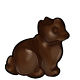 Dark Chocolate Earless Bunny