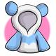 Blue Panda Crop Top