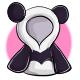 Long Panda Hoodie