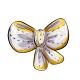Festive White Bow Plushie