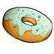 Fresh Mint Iced Donut