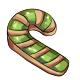 Green Candycane Cookie