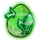 Green Crystal Glowing Egg