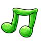 Green Gummy Music Note