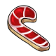 Iced Candycane Cookie