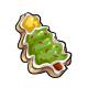 Iced Christmas Tree Cookie