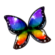 Iridescent Morpho Butterfly Wings
