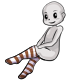 Brown Striped Stockings