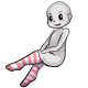 Light Red Striped Stockings