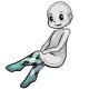 White Black Argyle Stockings