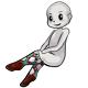 White Teal Argyle Stockings