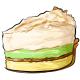 Slice of Lemon Lime Cream Pie