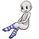 Long Blue Striped Socks