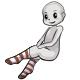 Long Brown Striped Socks