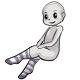Long Grey Striped Socks