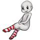 Long Red Striped Socks