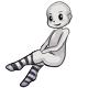 Long White Striped Socks