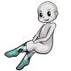 Long White Black Argyle Socks