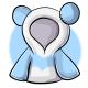 Short Blue Panda Hoodie