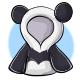 Short Panda Hoodie