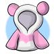 Short Pink Panda Hoodie