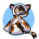 Short Calico Cat Hoodie
